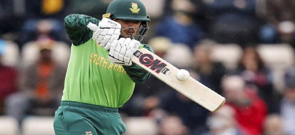 Quinton de Kock blasted 79 as South Africa won the match by nine wickets to level the three-match series against India at the M Chinnaswamy stadium. (Image credit: Twitter)