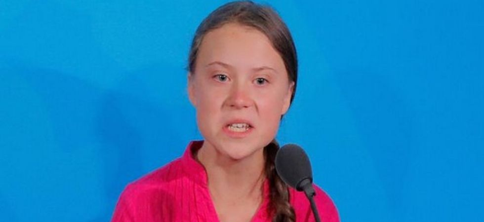 Greta Thunberg berated world leaders as she addressed a UN climate summit on Monday (Image: ANI)
