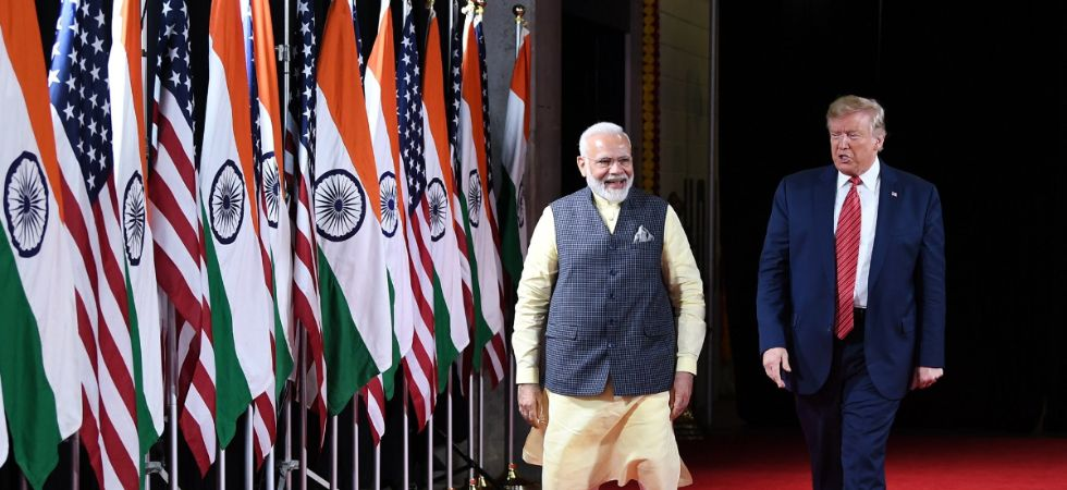President Trump and PM Modi will meet again for bilateral talks on Tuesday (Image: @narendramodi)