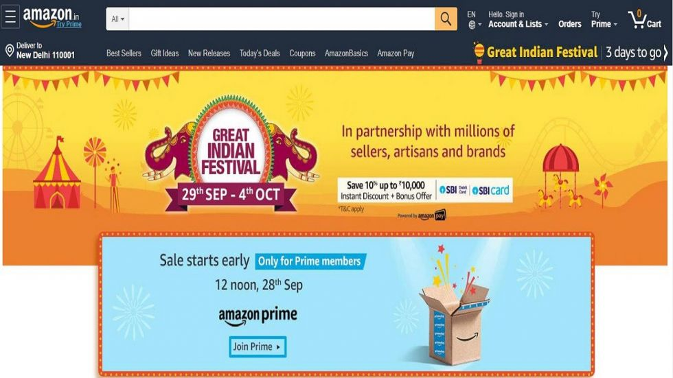 Amazon Great Indian Festival (Photo Source: Amazon.in)