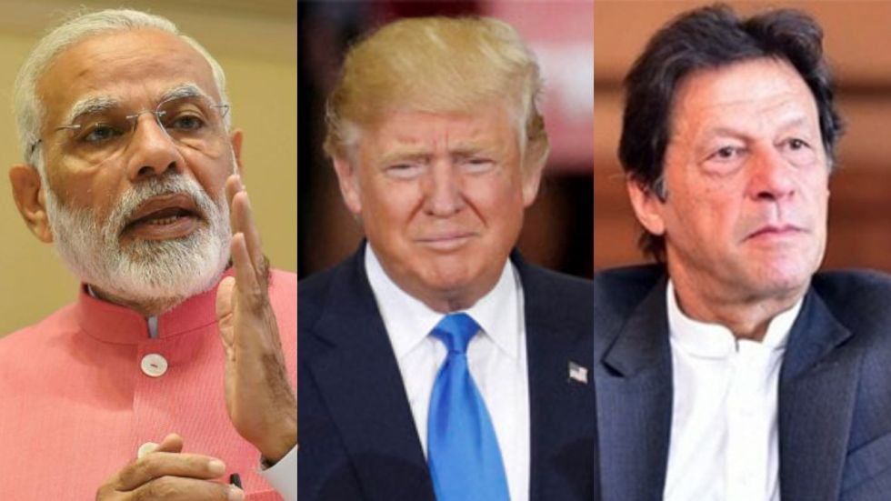 Donald Trump met PM Modi for a bilateral meeting on Tuesday and Imran Khan on Monday (Image: PTI)