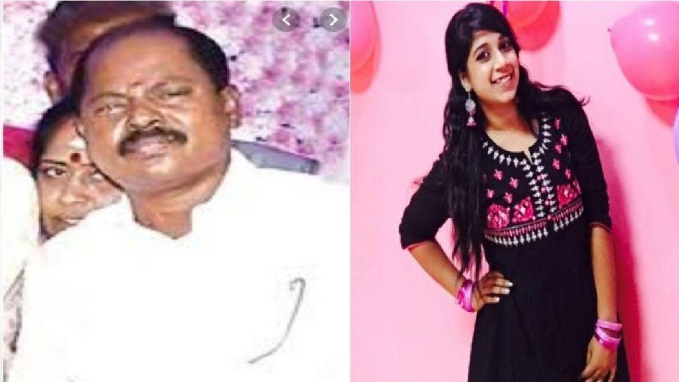 AIADMK leader Jayagopal (left) and the victim Chennai techie (right).