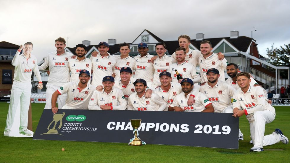 Essex won the Division One County Championships for the second time in three years as they held on for a tense draw against Somerset. (Image credit: Getty Images)