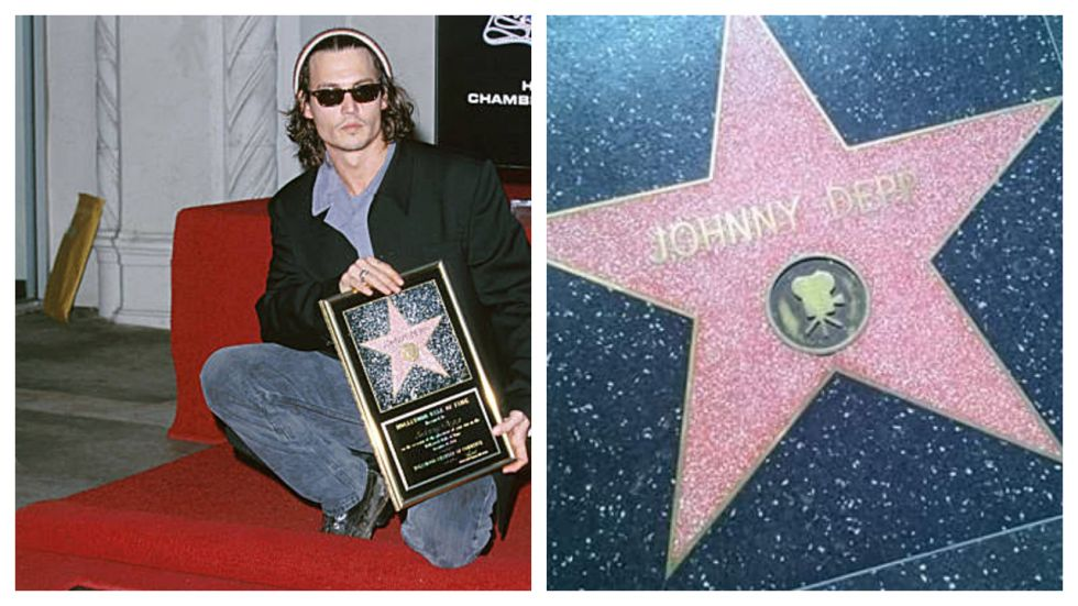 Johnny Depp's 'Walk Of Fame' Star Smeared With Profanity (Photo: Twitter)
