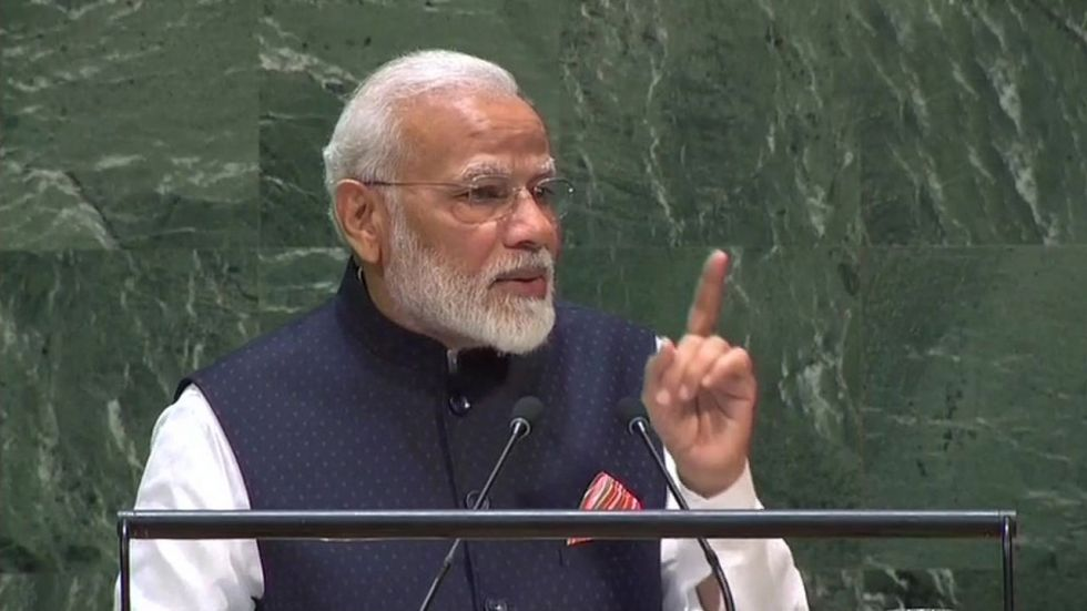 PM Modi also emphasised that terrorism is not a challenge for anyone country. (Image Credit: ANI)