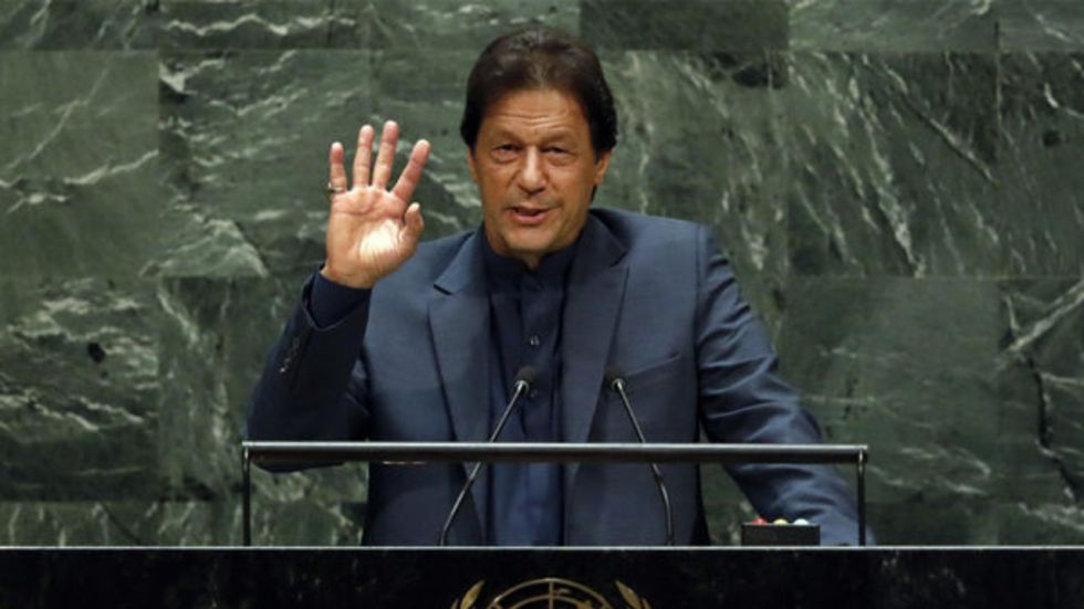Imran Khan spoke for over 50 minutes at the UNGA on Friday (Image: PTI)
