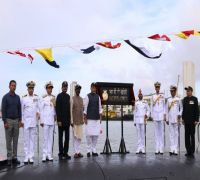 Rajnath Singh Commissions INS Khanderi, Says 'Imran Khan Creating Content For Cartoonists'
