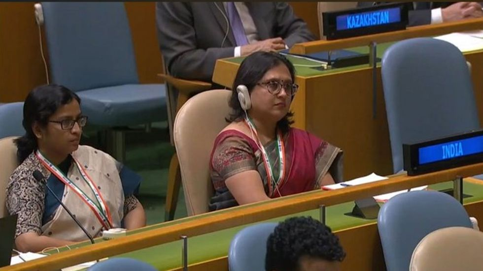 Indian delegates at the United Nations General Assembly (Image Credit: ANI)