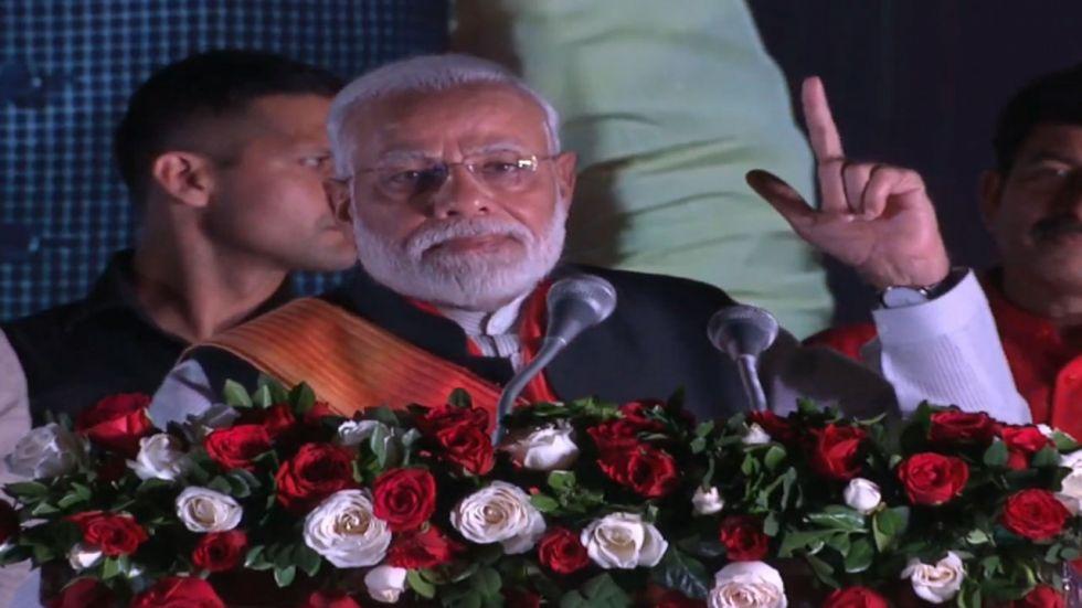 PM Narendra Modi reaches New Delhi, addresses gathering (Twitter: BJP)