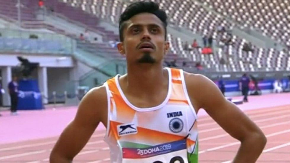M Sreeshankar and Dharun Ayyasamy failed to qualify in their respective events while MP Jabir reached the semi-final of the 400m hurdle race. (Image credit: Twitter)