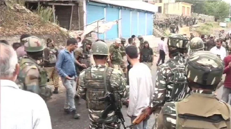 All Terrorists Holed Up Inside Ramban House Gunned Down (ANI Photo)