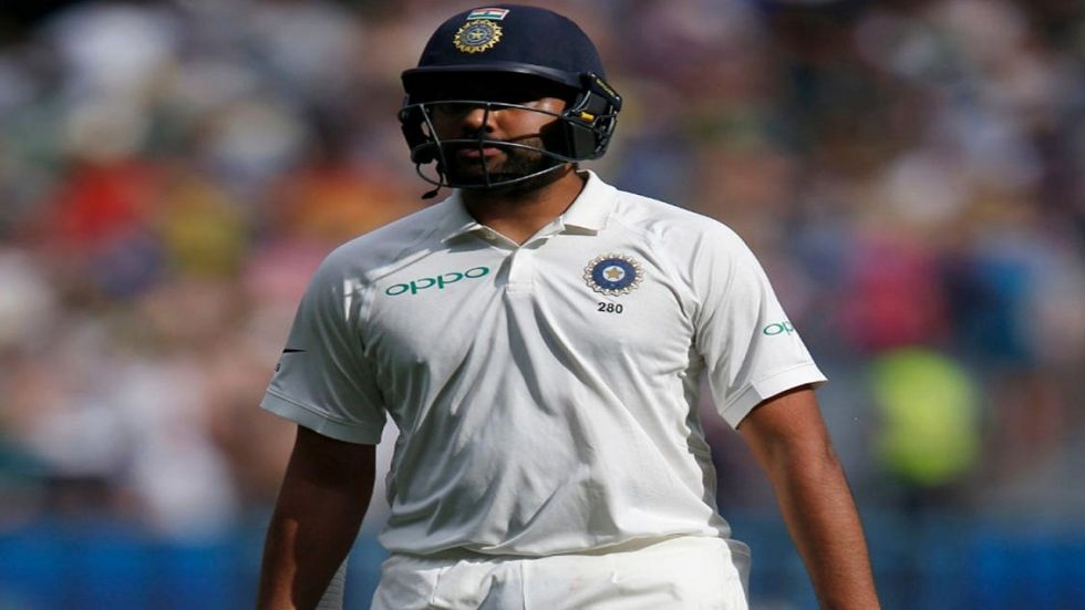 Rohit Sharma was dismissed by Vernon Philander for a two-ball duck during South Africa's game against Board President's XI. (Image credit: Twitter)