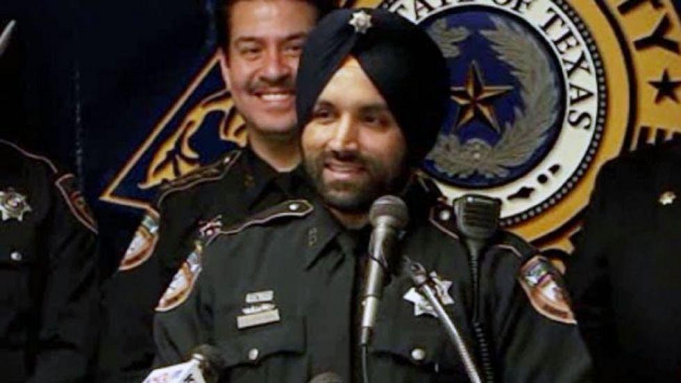 Indian-American Sikh Police Sandeep Singh Dhaliwal (Photo Source: @HCSOTexas)