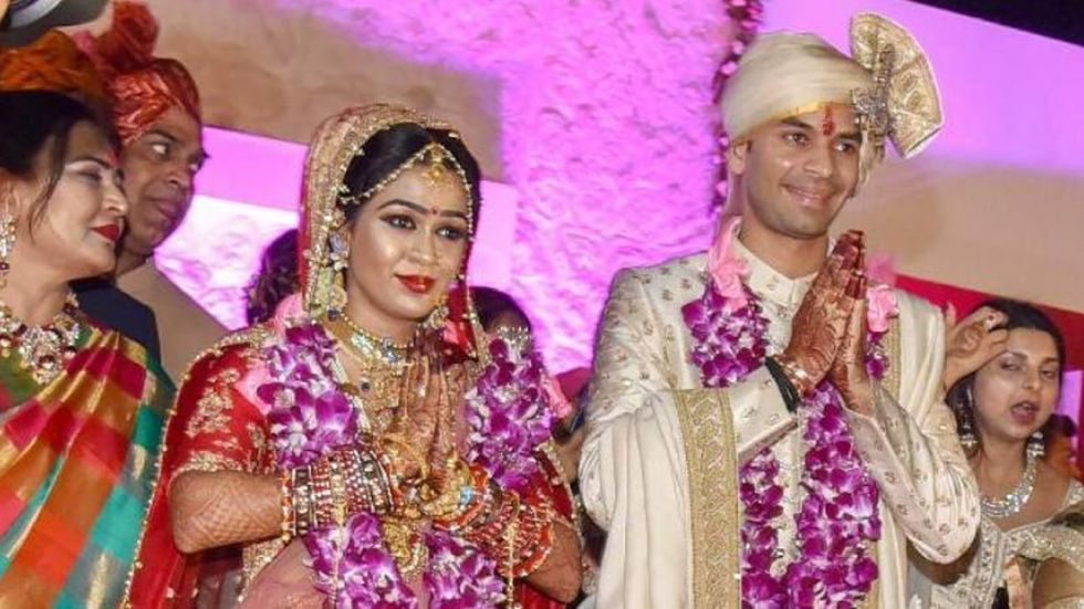 Tej Pratap Yadav married Aishwarya Rai in Patna in May. (Photo: PTI)