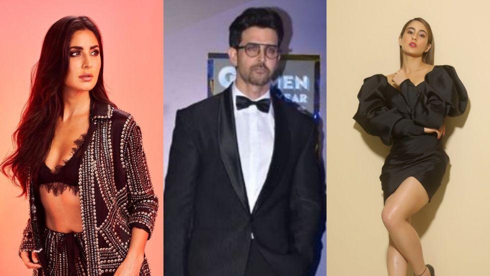 Katrina Kaif, Hrithik Roshan and Sara Ali Khan. (Image: Instagram)