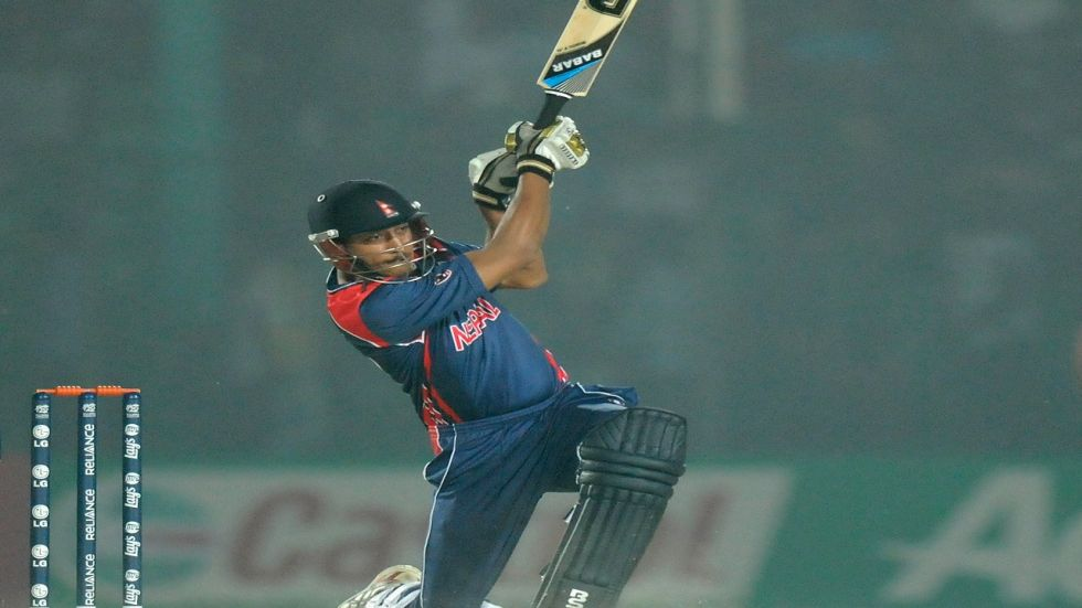 Paras Khadka scored his maiden Twenty20 International ton as Nepal defeated Singapore by nine wickets. (Image credit: Getty Images)