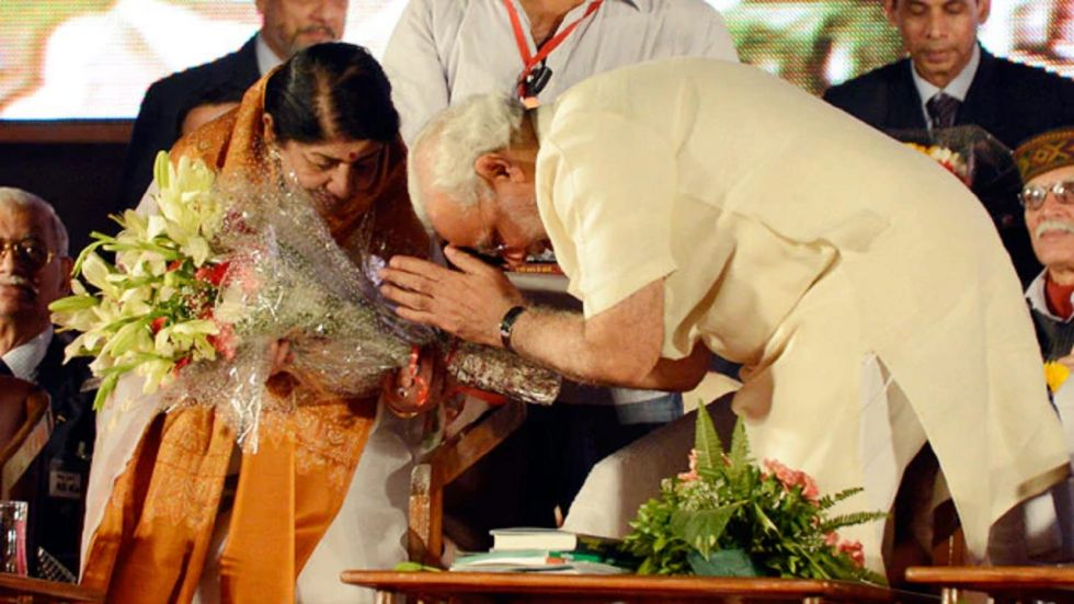 Prime Minister Narendra Modi with Lata Mangeshkar (File Photo)
