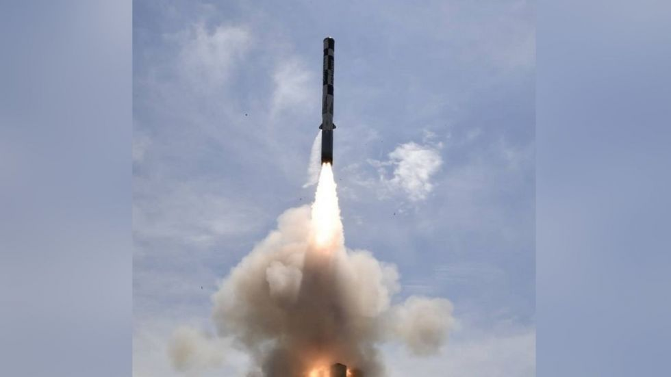 BrahMos supersonic cruise missile. (ANI/Twitter)