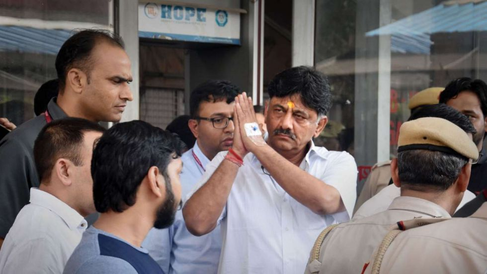 DK Shivakumar has been arrested in a money laundering case by the Enforcement Directorate (Image: PTI)