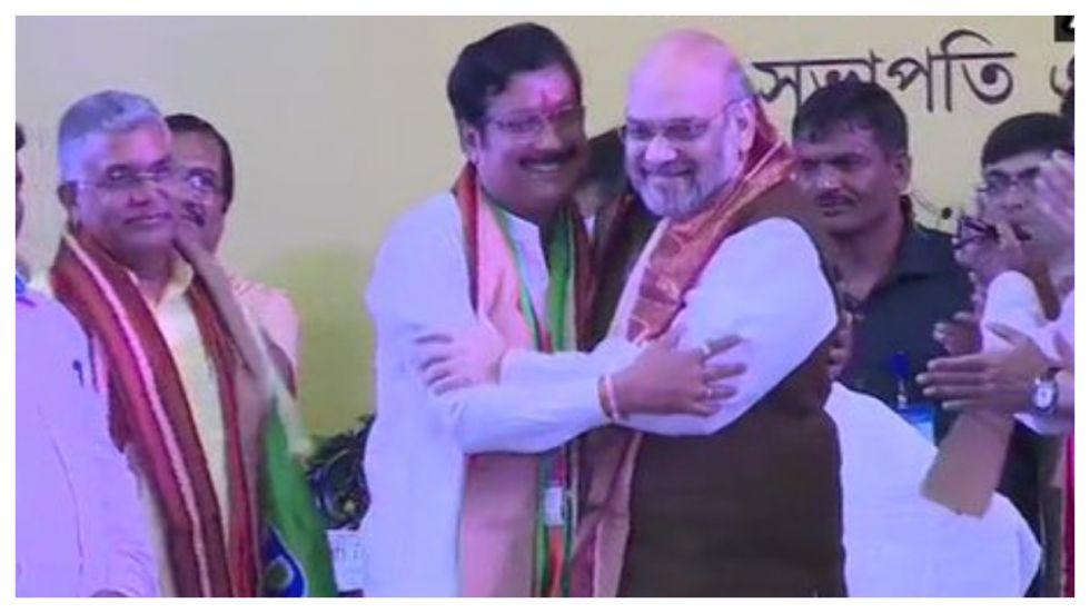 Trinamool Congress MLA Sabyasachi Dutta joins BJP in presence of Party President Amit Shah