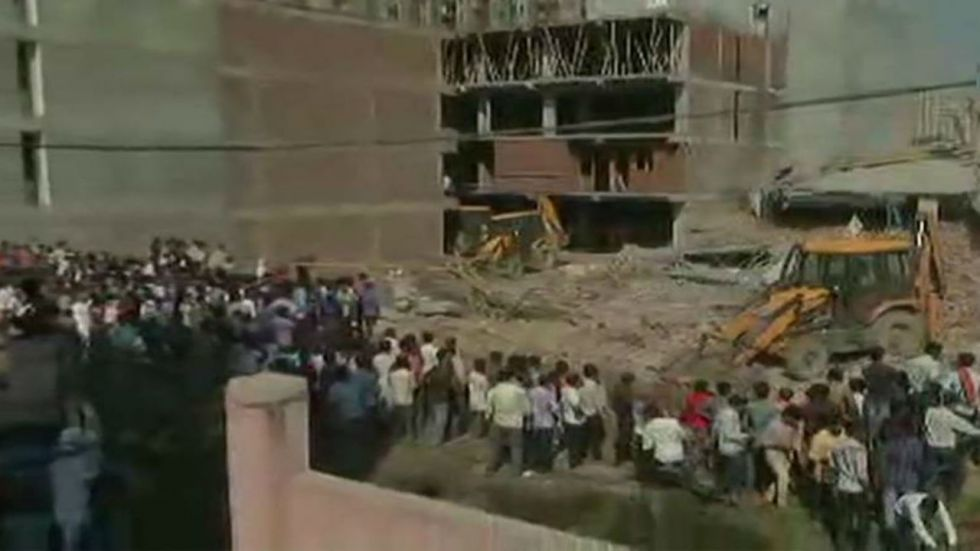 In July 2018, two buildings had collapsed in Shahberi leaving nine people dead (Image: ANI)