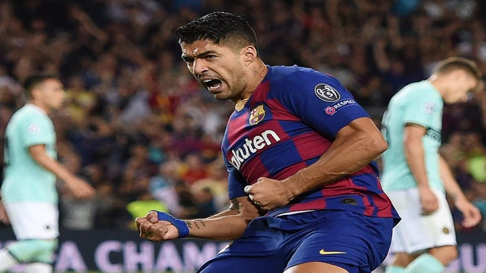 Luis Suarez scored two goals, which included one assist from Lionel Messi as Barcelona defeated Inter Milan 2-1. (Image credit: Twitter)