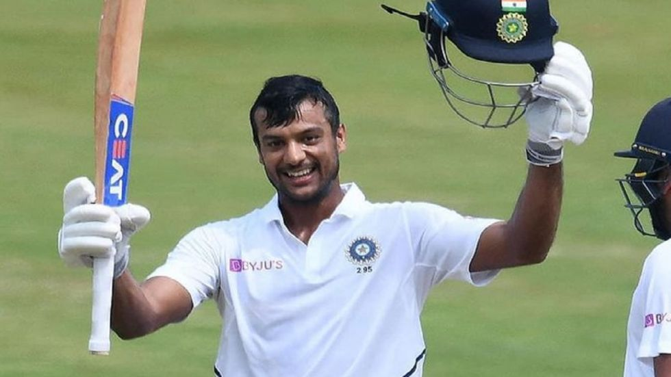 Mayank Agarwal hammered his maiden double century as India continued to be on top against South Africa in Vizag. (Image credit: Twitter)