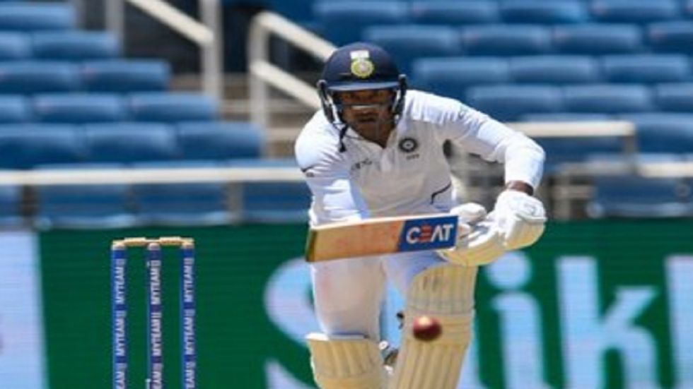 Mayank Agarwal notched up his maiden century in Tests as India dominated the Vizag Test against South Africa. (Image credit: Twitter)