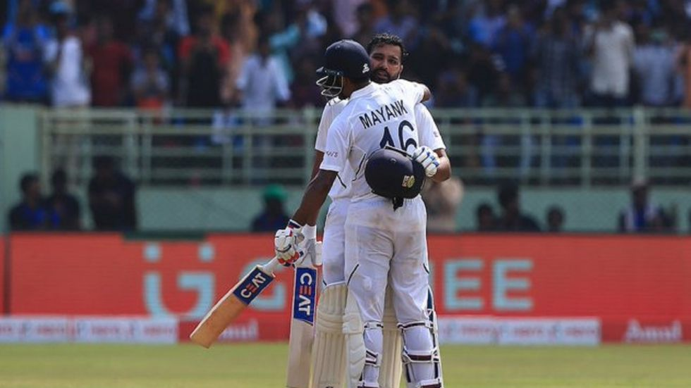 Rohit Sharma and Mayank Agarwal shared a 317-run opening stand against South Africa, the best ever in Tests between the two sides. (Image credit: Sachin Tendulkar Twitter)