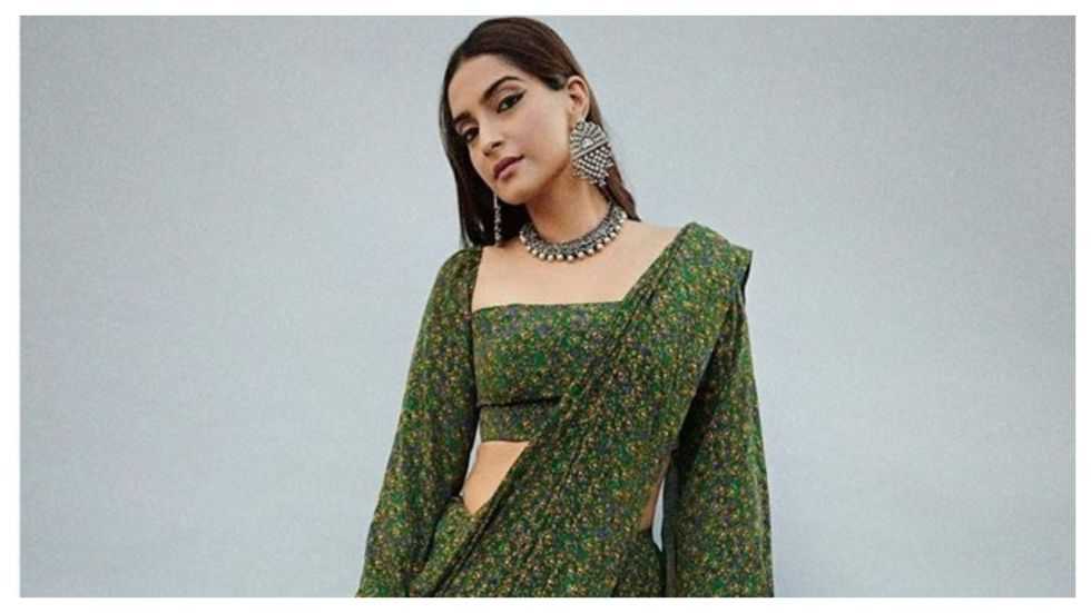 Sonam Kapoor's Western Touch To Sari Is A Must-Steal (Photo: Instagram)