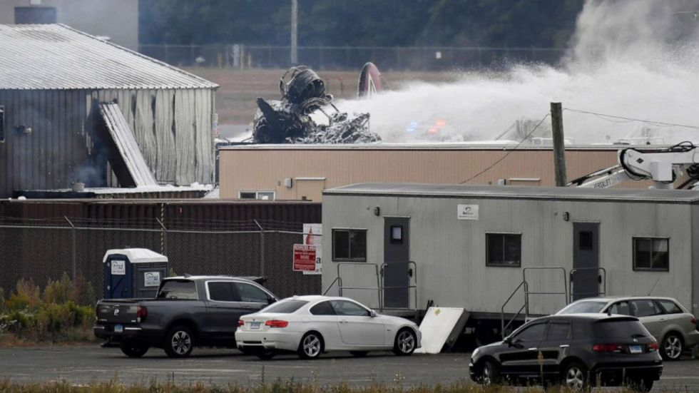 US: World War II-Era Plane Crashes At Bradley International Airport, 7 Dead (Photo Credit: Twitter)