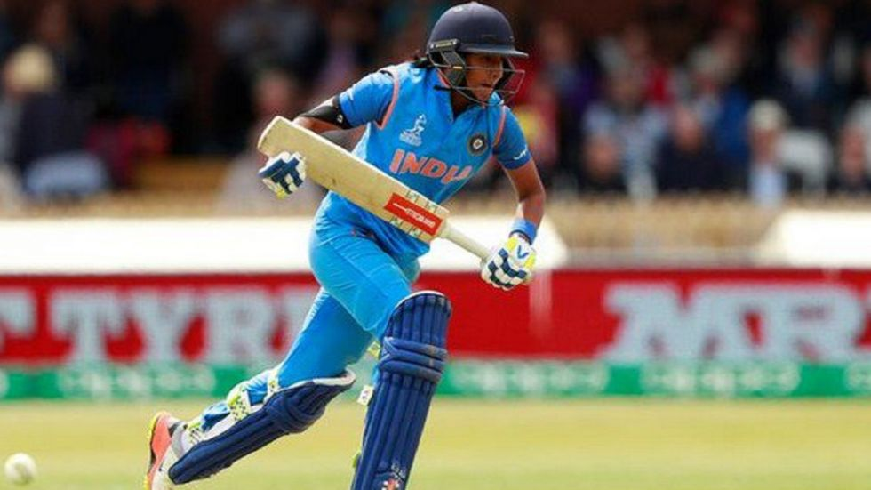 Harmanpreet Kaur contributed a match-winning 34 off 32 balls and took a key wicket as India defeated South Africa by five wickets to take a 3-0 lead in the series.