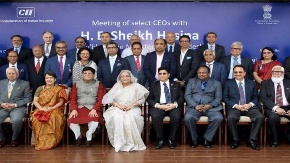Sheikh Hasina is in Delhi to attend the India Economic Summit of the World Economic Forum (WEF)