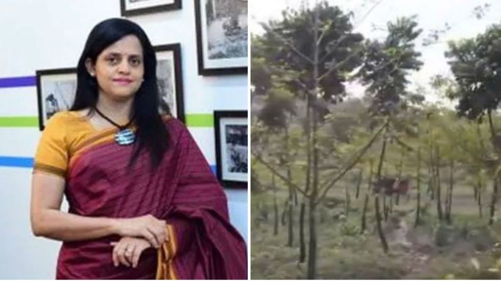 Ashwini Bhide quote tweeted another tweet by Mumbai Metro's official handle claiming to have planted arnd 24,000 tree