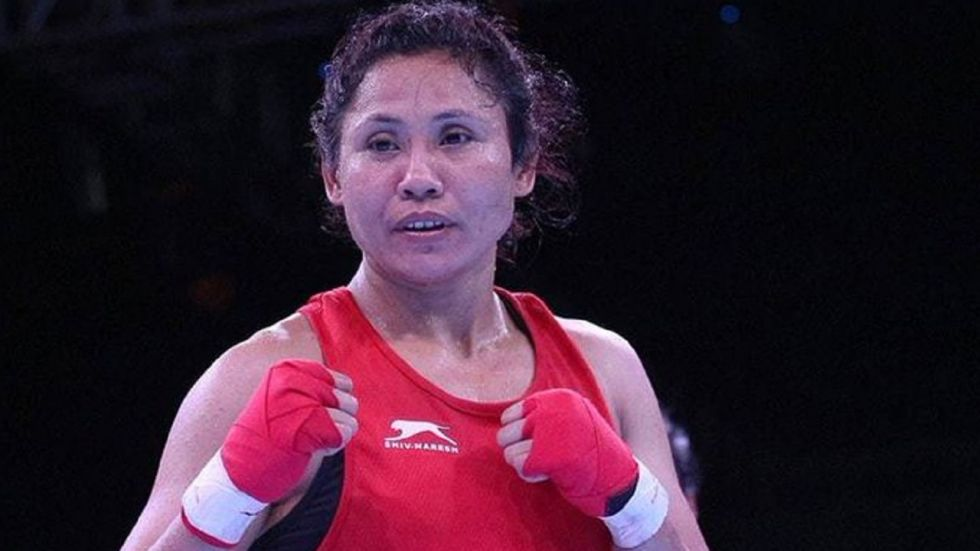 Sarita Devi frittered away a strong start to bow out with a 0-5 loss to Russia's Natalia Shadrina in the round of 32.