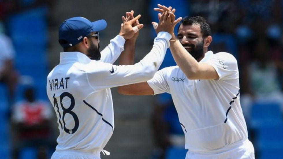 Mohammed Shami took five wickets as India defeated South Africa by 203 runs in the Vizag Test to take a 1-0 lead in the three-match series.