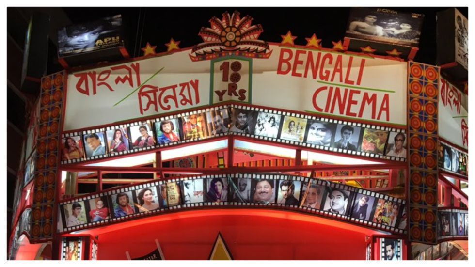 Community Durga Puja Themed On 102 Years Of Bengali Cinema