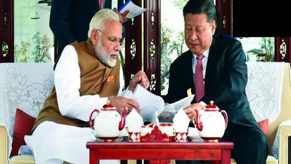 The meeting marks the completion of 70 years of diplomatic relations between India and China.