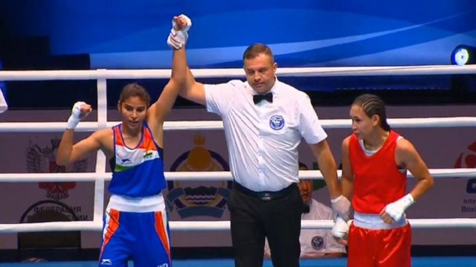 Manju Rani has entered the quarterfinal of the World Boxing Championships and is a win away from being assured of a medal.