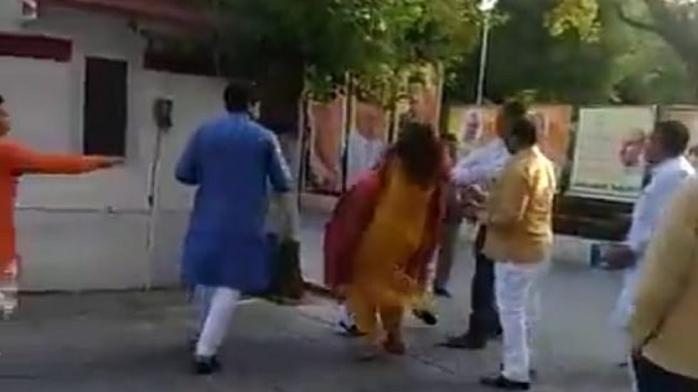 Choudhary was allegedly slapped by her husband Azad Singh at the Delhi BJP.