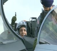 Rajnath Singh Flies On India's First Rafale Jet, Describes It 'Unprecedented Moment'