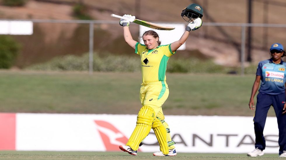 Alyssa Healy's ton helped Australia beat Sri Lanka by nine wickets as they registered a world record 18th consecutive win, breaking their own previous record of 17.