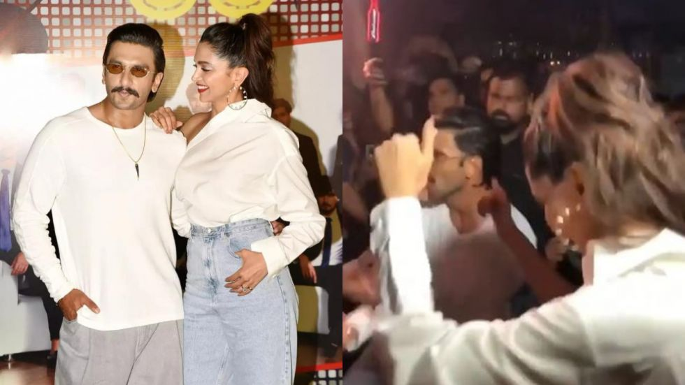 Deepika and Ranveer at 83 wrap up party.