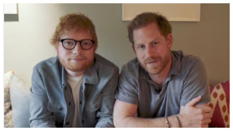 Ed Sheeran, Prince Harry Make Fun Of Their Hair For World Mental Health Day