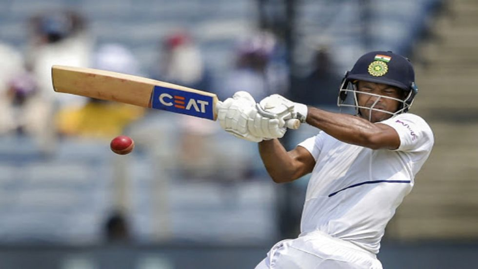 Mayank Agarwal slammed his second ton as India reached a superb position at the end of day 1 of the Pune Test against South Africa.
