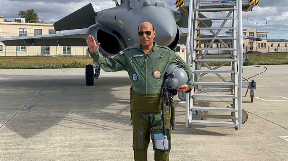 Rajnath Singh on Wednesday called on French companies to make India their base for the production of defence equipment.