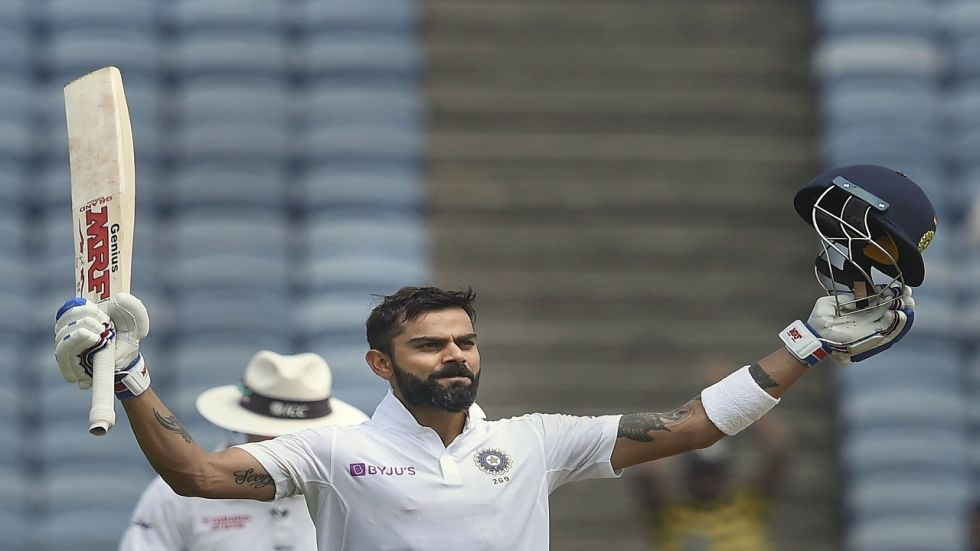 Virat Kohli notched up his second 150+ score in Tests against South Africa during the Pune Test.