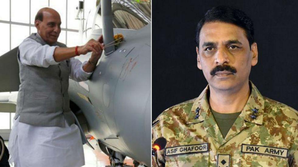 Pakistan Army spokesperson Asif Ghafoor defended Rajanth Singh's 'Rafale Puja'