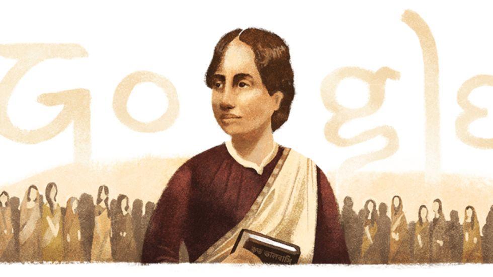 Google Doodle Commemorates 155th Birth Anniversary Of Kamini Roy