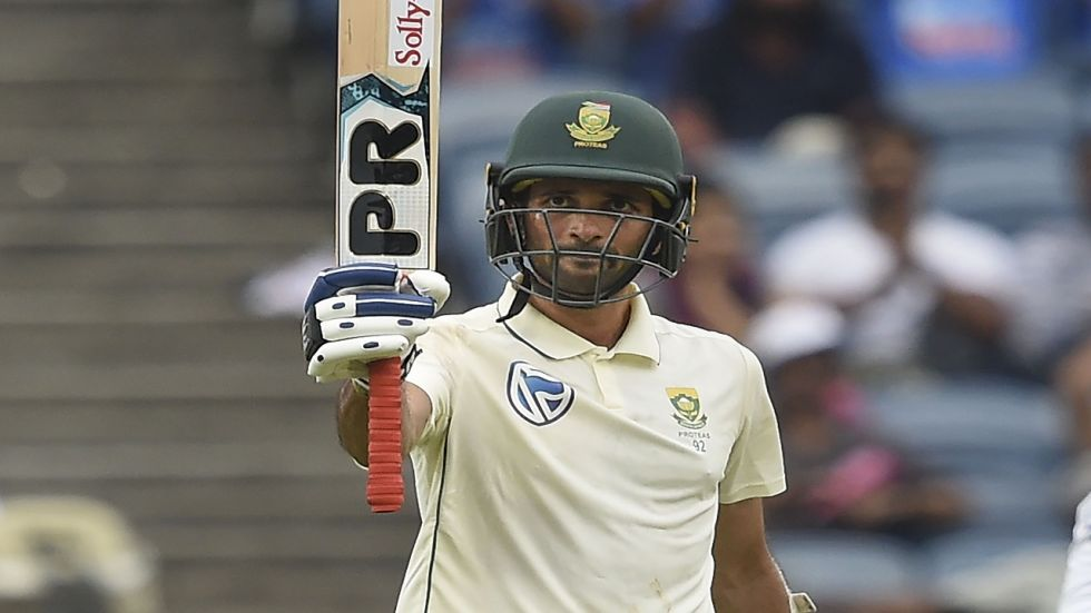 Keshav Maharaj slammed his maiden fifty as South Africa fought against India in Pune.